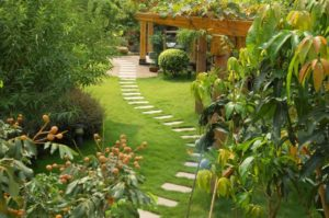 планировка красивого сада